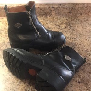 Harley Davidson Motorcycle Boots 7 Black Leather